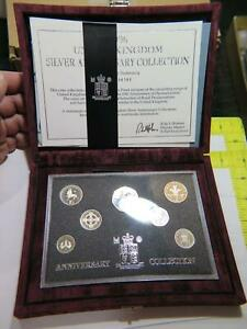 1996 UNITED KINGDOM SILVER ANNIVERSARY COLLECTION PROOF COIN SET ROYAL MINT🌈⭐🌈