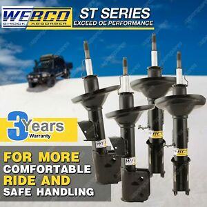 Front + Rear Webco ProM Shock Absorbers for HYUNDAI ELANTRA XD Sedan Hatch 00-07