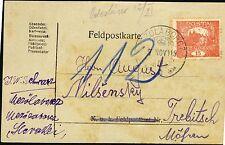 CZECHOSLOVAKIA 1919 Feldpostkarte MEZŐLABORCZ Medzilaborce SURVIVING @ PMK Rare
