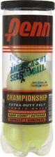 3 Penn Championship tennis balls extra duty yellow felt hard court Usta Itf appr