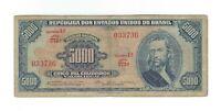 5000 Cruzeiros Brasilien 1964 C058 / P.174b - Brazil Banknote