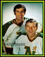 NHL 1972 Minnesota North Stars Gump Worsley & Cesare Maniago 8 X 10 Photo Pic