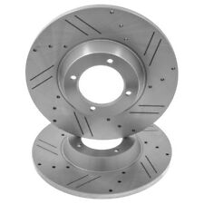 Triumph TR2-6 - Cross drilled brake discs - pair - 1953-1976 • NEW • 209327XKG