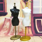 1x Barbie Doll Model Display Gown Dress Form Clothes Rack Stand Holder Black·Pro
