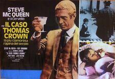 THOMAS CROWN AFFAIR Italian fotobusta photobusta movie poster R73 STEVE McQUEEN