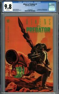 Aliens vs. Predator #1 CGC 9.8 NM/MT 1st Appearance of Machiko Noguchi WHITE