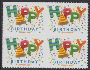 US 5635 Happy Birthday forever block (4 stamps) MNH 2021