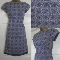 NEW White Stuff Ladies Ebony Tea Dress Tunic Shift Summer Sun Purple Blue 8-18
