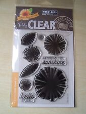 HERO ARTS - COLOUR LAYERING CLEAR STAMPS - GRAPHIC FLOWERS  - 9 STAMPS