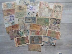 """Lot de 32 BILLETS de Banque """"TOUS PAYS """" tous etat !!"""