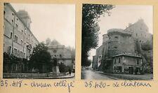 TOURNON c. 1957 - 3 Photos Collège Château Monument aux Morts Ardèche - Pl 337