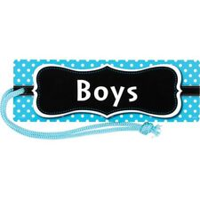 Aqua Polka Dots Magnetic Boys Pass Teacher Created Resources Tcr77239