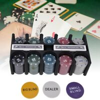 Plastic Poker Chip Texas Holdem Set w/Table Cloth Playing Game for Family Party❤