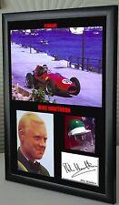 "Mike Hawthorn F1 Ferrari Framed Canvas Signed Print ""Great Gift"""