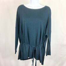 Lou & Grey Womens Sweater Long Sleeve Tie Back Size Small Green Soft NWT