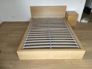 Ikea Bett 140x200 mit Lattenrost und Matratze