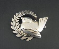 Vintage Georg Jensen #309 Bird Robin Sterling 925 Silver Brooch Pin