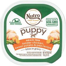 24 Nutro Bites in Gravy Tender Chicken,Sweet Potato & Pea Wet Puppy Food 3.5 oz.
