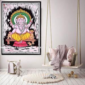 Ganesh Hippie Tenture Tapisserie Murale Indien Plage Couverture Décoration Boho