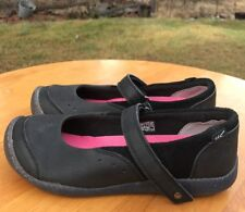Keen Girl's Tris Mj Black Leather Mary Jane Shoes Size 5M US