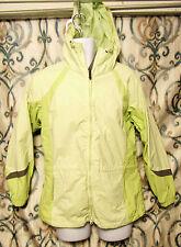 Columbia Women's Med Windbreaker Full Zip Jacket W Hood, Nylon Polyester Green