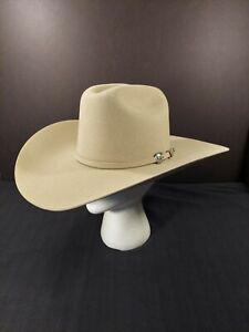 NEW Resistol 4X Wool Bison Spotter Silversand 6 7/8 Cowboy Hat w/Box