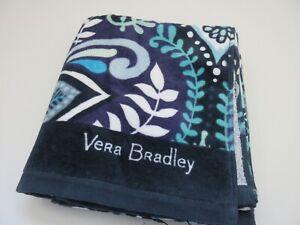 "Vera Bradley Large 33"" x 66"" Beach Towel Blue Island Medallion Print NWT"
