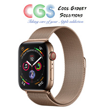 Apple Watch Series 4 44mm Gold Stainless Steel - Milanese Loop Cellular A2008