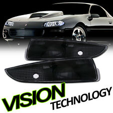 Euro Black Clear Front Turn Signal Bumper Lights Lamps K2 93-02 Chevy Camaro Z28