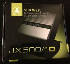 "JL AUDIO JX500/1D   500 Watts RMS X1 @ 1 ohm  SUBWOOFER AMPLIFIER ""BRAND NEW'"