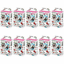 10 Packs 100 Photos Hello Kitty 2016 FujiFilm Fuji Instax Mini Film Polaroid 7S