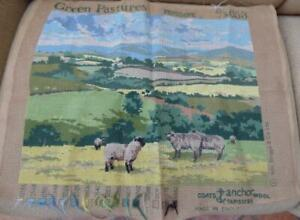 Tapestry Penelope by Wm Briggs Green Pastures B/S653  Started 47.5cm x 38cm