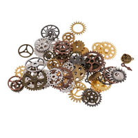 100g Antique Vintage Gears Pendant Steampunk Charms Jewelry Findings DIY