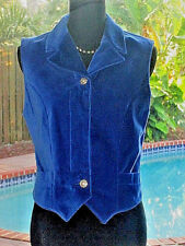 SUPER~SOFT!!! Royal~Blue Velvet Versace Vest Or Just Wear As A Top M 6-8 FR38