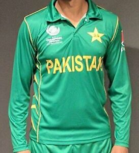 2017 PAKISTAN ICC CHAMPIONS TROPHY CRICKET SHIRT SHORT SLEEVES NO NUMBERS