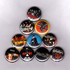 "JUDAS PRIEST 1"" PINS / BUTTONS (halford metal god leather lp thrash patch logo)"