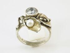 Rabinovich Denmark, Ring, Gr. 56,Zirkon, weiße Perle, 925 Sterling Silber ,19116