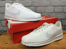NIKE UK 7 EU 41 CORTEZ ULTRA MIOIRE WHITE PURE PLATINUM TRAINERS RRP £75  EP
