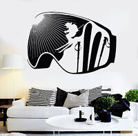 Vinyl Wall Decal Extreme Ski Winter Sport Skiing Stickers Mural (ig4602)
