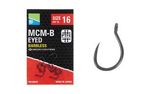 Preston Innovations MCM-B Eyed Barbless x2 Packs PTFE Technology *Coarse