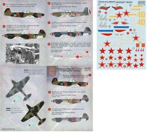 "1/48 Victory aces regiment ""Normandiy-Nieman"" Wet decalPrint Scale 48-056"