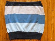 Mini Striped Regular Size 100% Cotton Skirts for Women