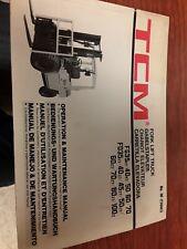 TCM Forklift Maintenance Manual