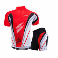 Men's Pro Team Cycling Clothing Short Sleeve Jersey Set Bike Bicycle Pad Shorts