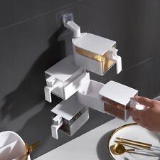 Multi-layers 360 Degree Rotating Wall-mounted Spice Rack Seasoning Storage Box