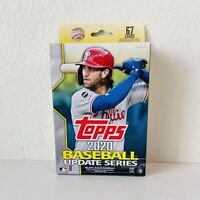 NEW 2020 Topps Baseball Update Series FACTORY SEALED Hanger Box 67 Cards!