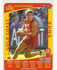 2012 AFL TEAMCOACH NAB AUSKICK GOLD COAST SUNS DAVID SWALLOW CARD RARE