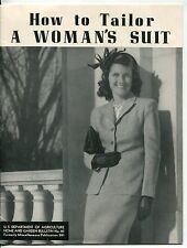 "1946 Publication: ""How To Tailor A Woman'S Suit"" - Illustrated"