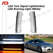 2PCS FOR Nissan 350Z 06-09 LED 3D Daytime Running Light Turn Sgnal Lamp Clear