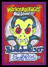 2019 TOPPS WACKY PACKAGES OLD SCHOOL 8 BLOODWEISER SCHERES FULL COLOR SKETCH 1/1
